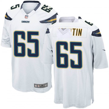 Men's Koda Martin Los Angeles Chargers Game White Jersey