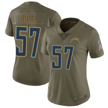 Women's Asmar Bilal Los Angeles Chargers Limited Green 2017 Salute to Service Jersey