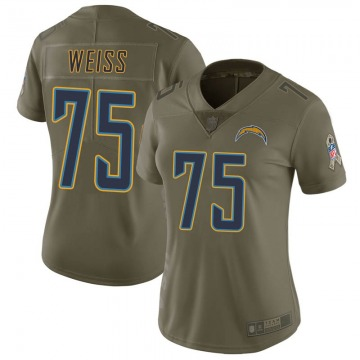 Women's Brant Weiss Los Angeles Chargers Limited Green 2017 Salute to Service Jersey