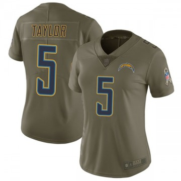 Women's Tyrod Taylor Los Angeles Chargers Limited Green 2017 Salute to Service Jersey
