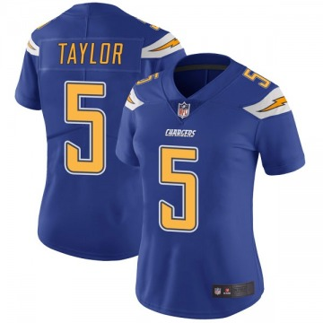 Women's Tyrod Taylor Los Angeles Chargers Limited Royal Color Rush Vapor Untouchable Jersey