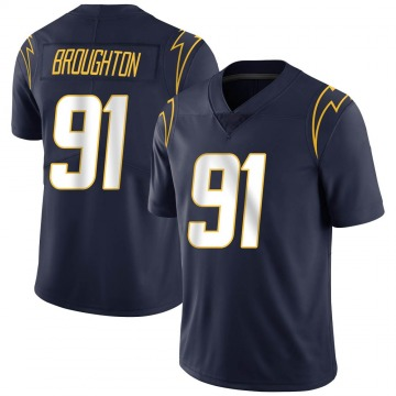 Youth Cortez Broughton Los Angeles Chargers Limited Navy Team Color Vapor Untouchable Jersey