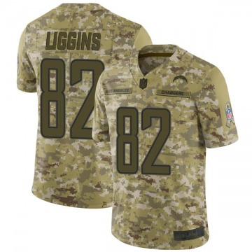Youth Justice Liggins Los Angeles Chargers Limited Camo 2018 Salute to Service Jersey