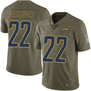 Youth Justin Jackson Los Angeles Chargers Limited Green 2017 Salute to Service Jersey