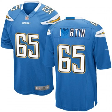 Youth Koda Martin Los Angeles Chargers Game Blue Powder Alternate Jersey