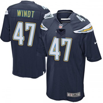 Youth Mike Windt Los Angeles Chargers Game Navy Team Color Jersey